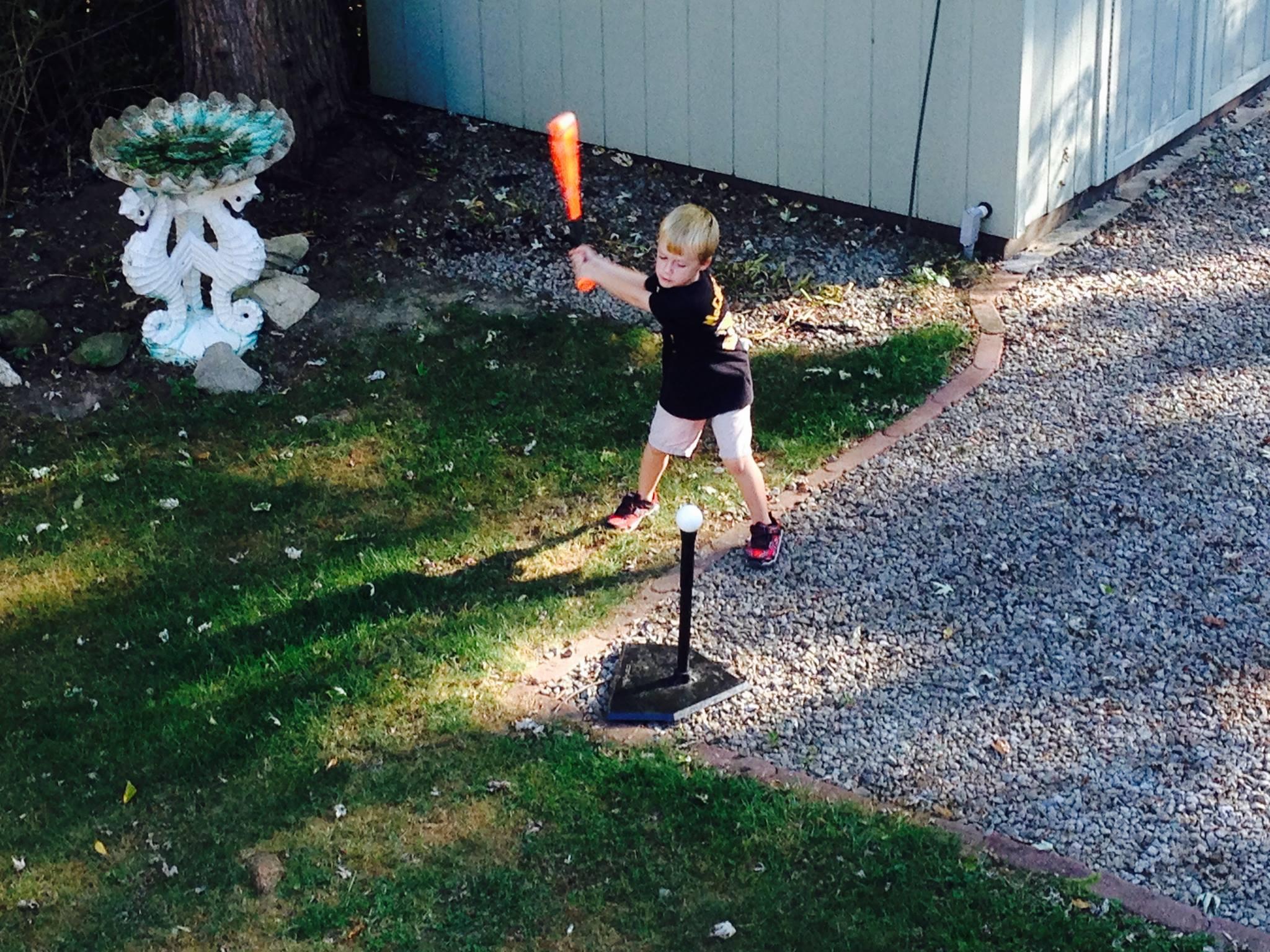 Colin batting